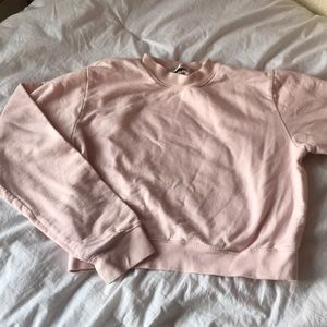 HALFHEART cropped pink Crew